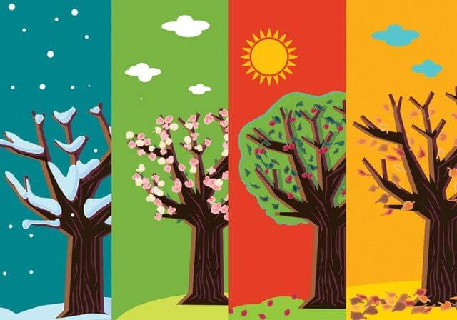 Estações do ano em inglês: Aprenda tudo sobre as quatro estações
